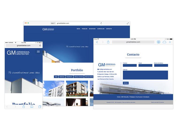 Dise o de p gina web para arquitectos en gran canaria for Diseno de interiores gran canaria