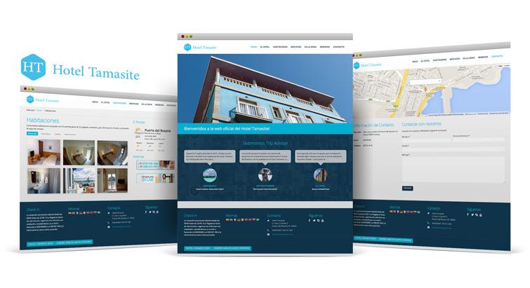 Hotel Tamasite - Diseño web Puerto del Rosario