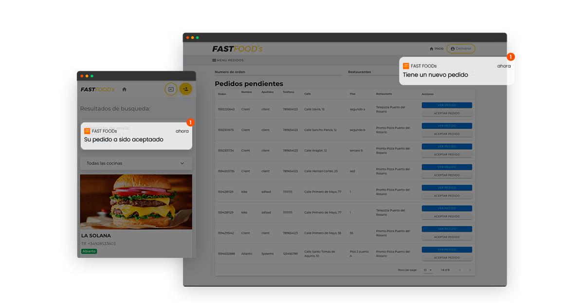 App Movil de comida a domicilio
