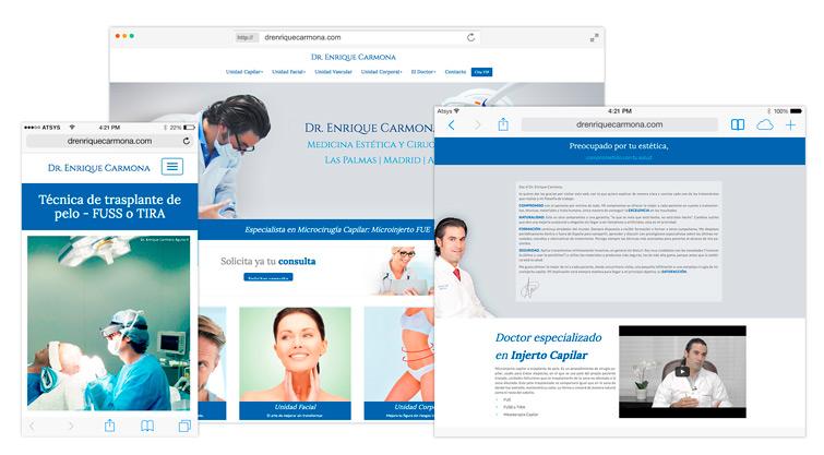 Dr. Enrique Carmona - Diseño Web a medida Canaria