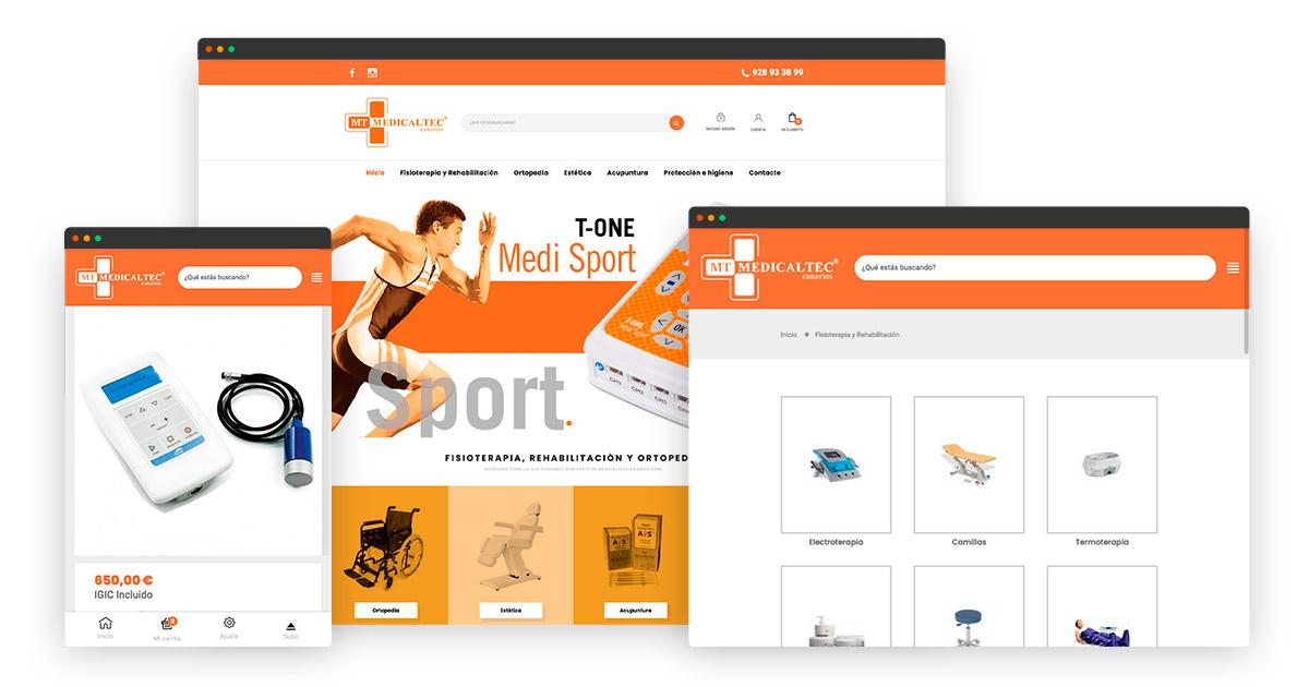 Rediseño tienda online Medicaltec Canarias