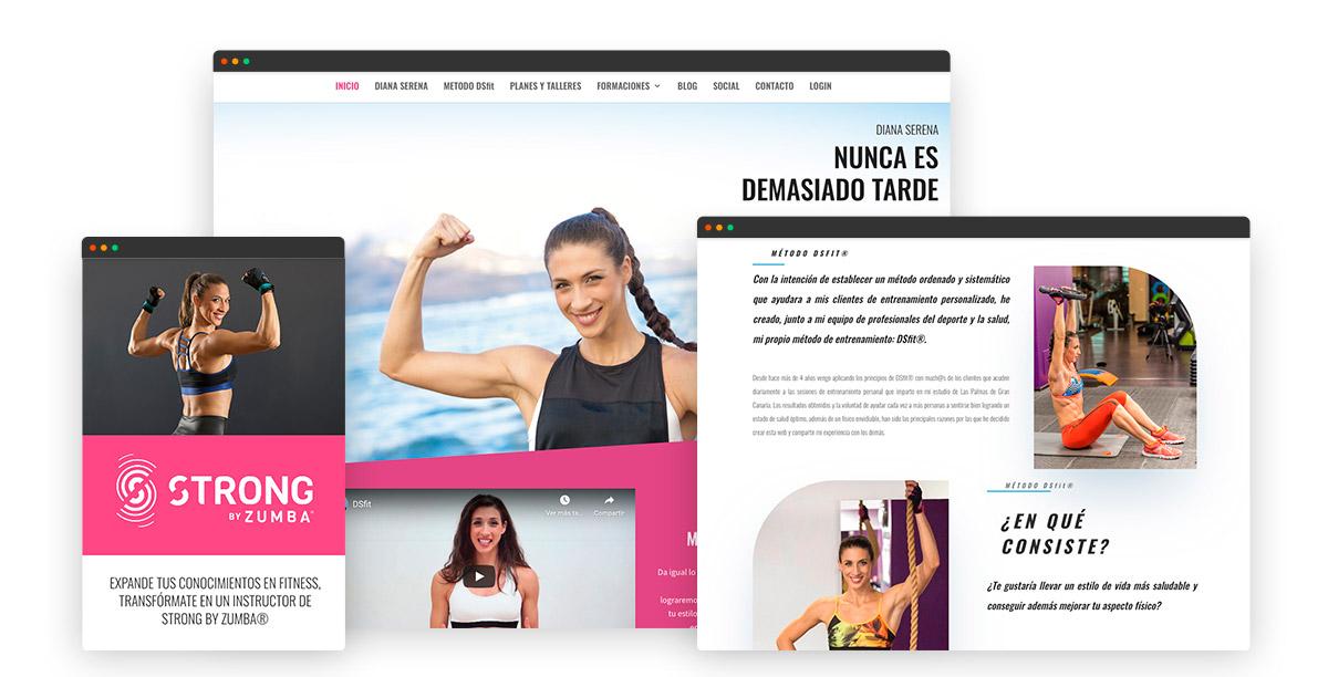 Diseño página web de Diana Serena