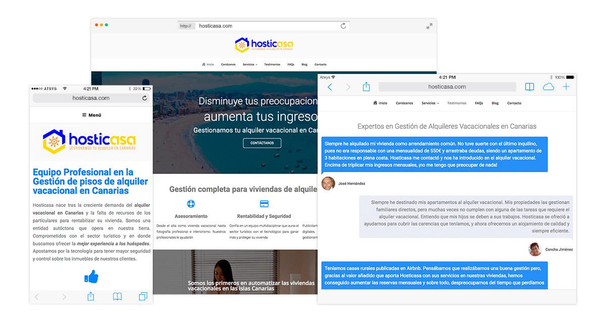Diseño página web responsive en wordpress en Las Palmas