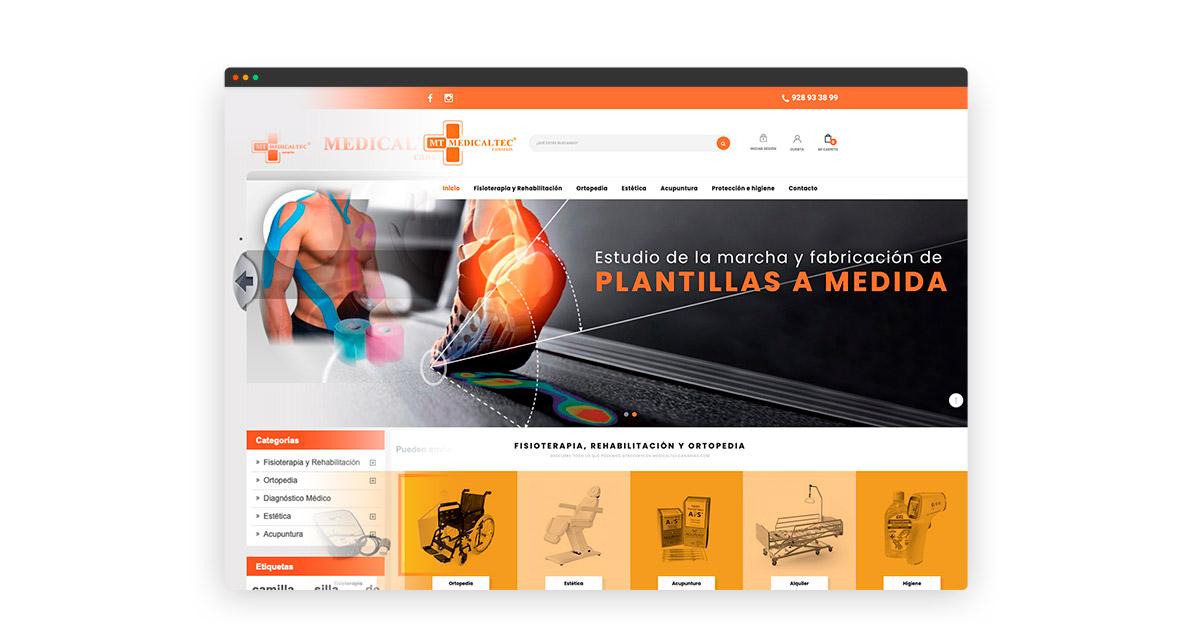 Actualización tienda online Medicaltec Canarias