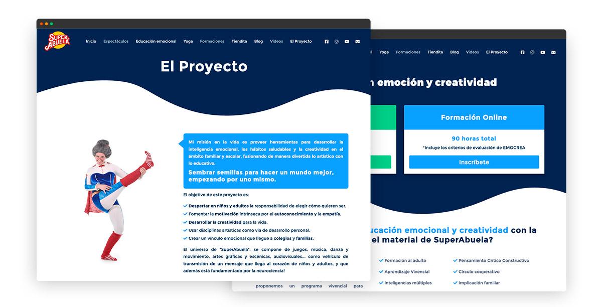 Diseño de página web con video