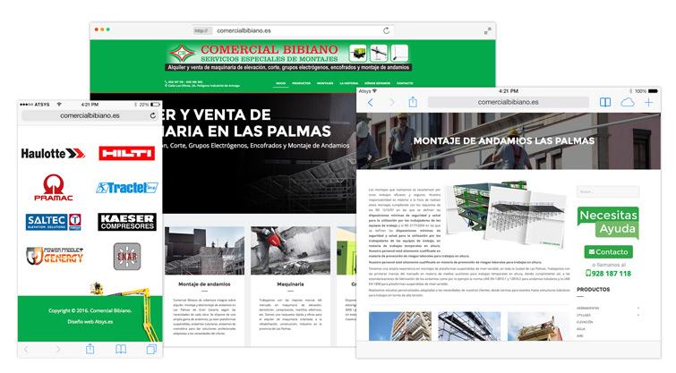 Nueva web Comercial Bibiano