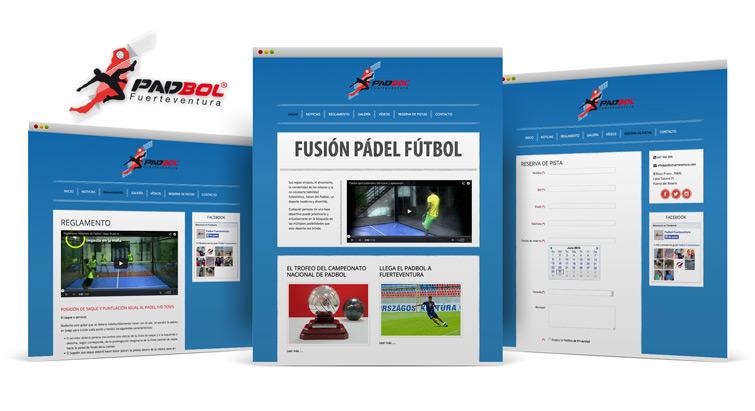 Padbol diseño web Fuerteventura