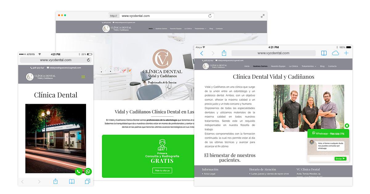 Página web con wordpress para Clínica dental en Las Palmas