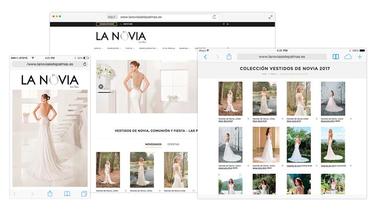 Diseño Catálogo Online La Novia 7 Palmas