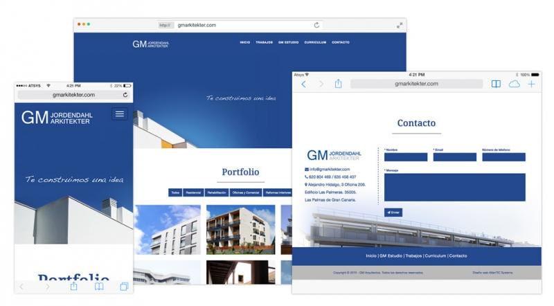 Diseño y desarrollo web de Arquitectos en Las Palmas - GM Arkitekter