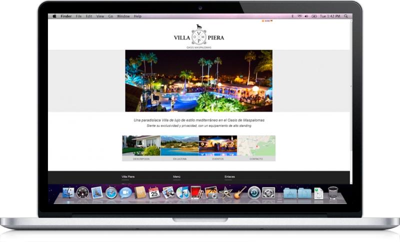 Diseño Web para la paradisíaca Villa de lujo de estilo mediterráneo