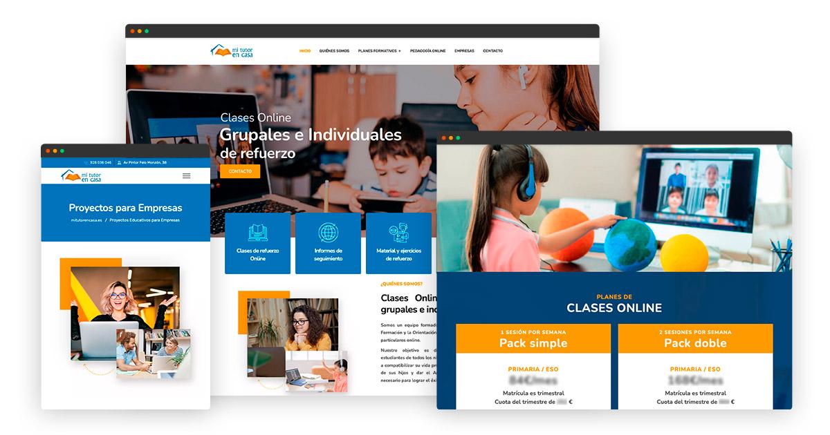 Diseño página web clases online en Las Palmas