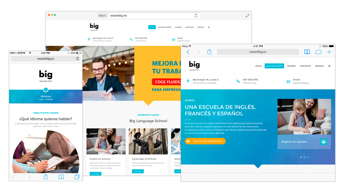 We are big school2 - Diseño Web