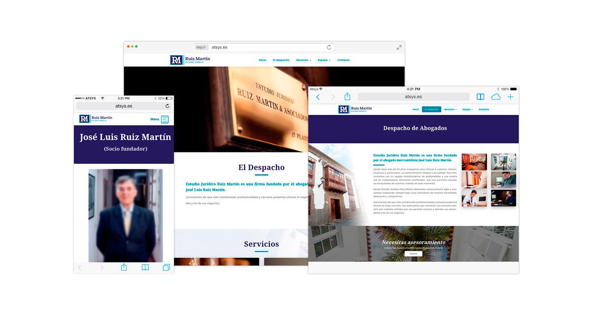Diseño de página web abogados en las palmas