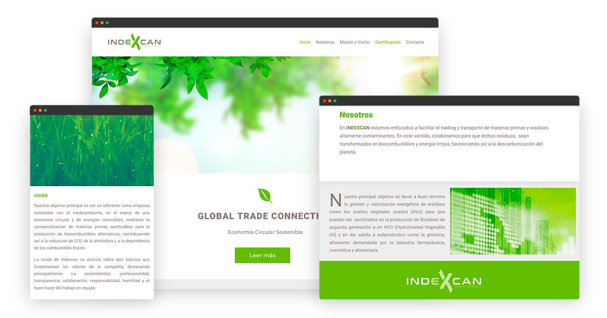 diseño web en WordPress para Indexcan