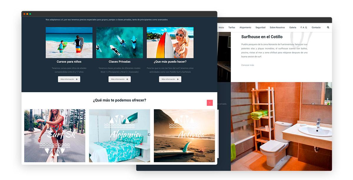 diseño web escuela de surf en Fuerteventura