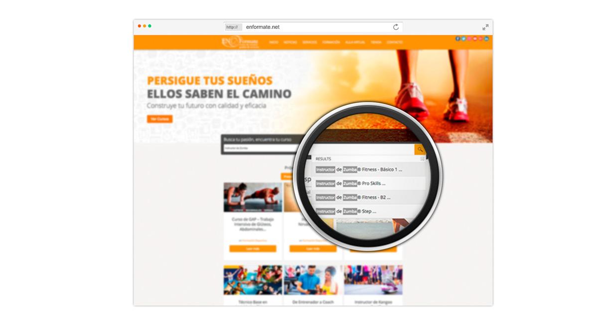 Buscador de Cursos página web en Canarias