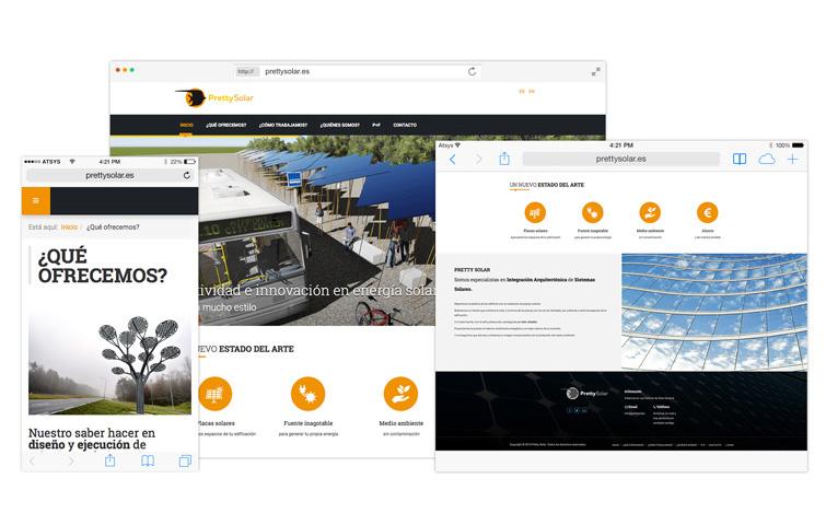 Pretty Solar - Diseño web Canarias