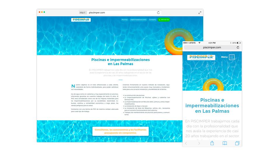Piscimper - Diseño de página web para Pymes en Las Palmas