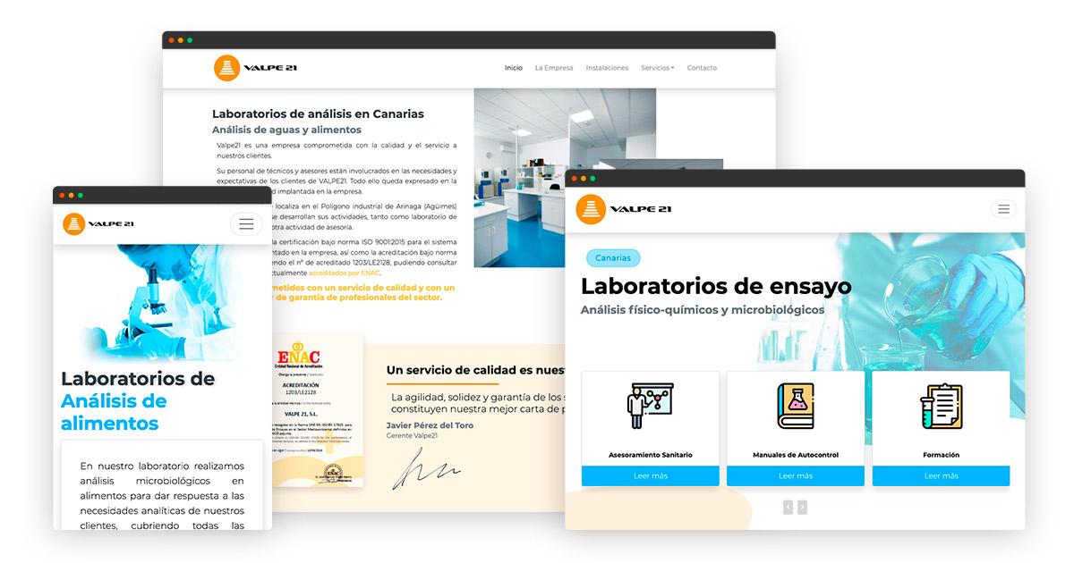 Diseño web para Laboratorios en Las Palmas