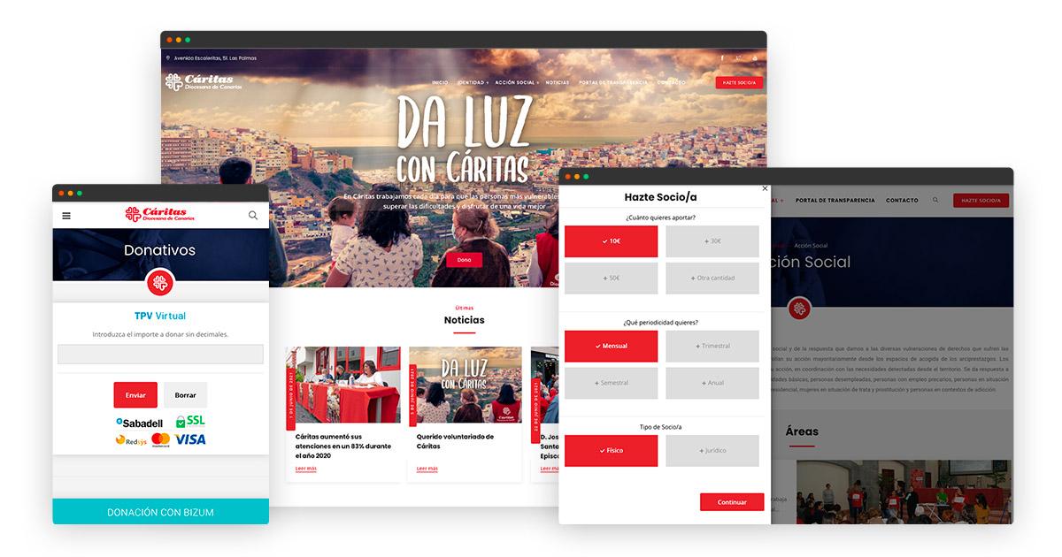 Diseño Web Cáritas Canarias