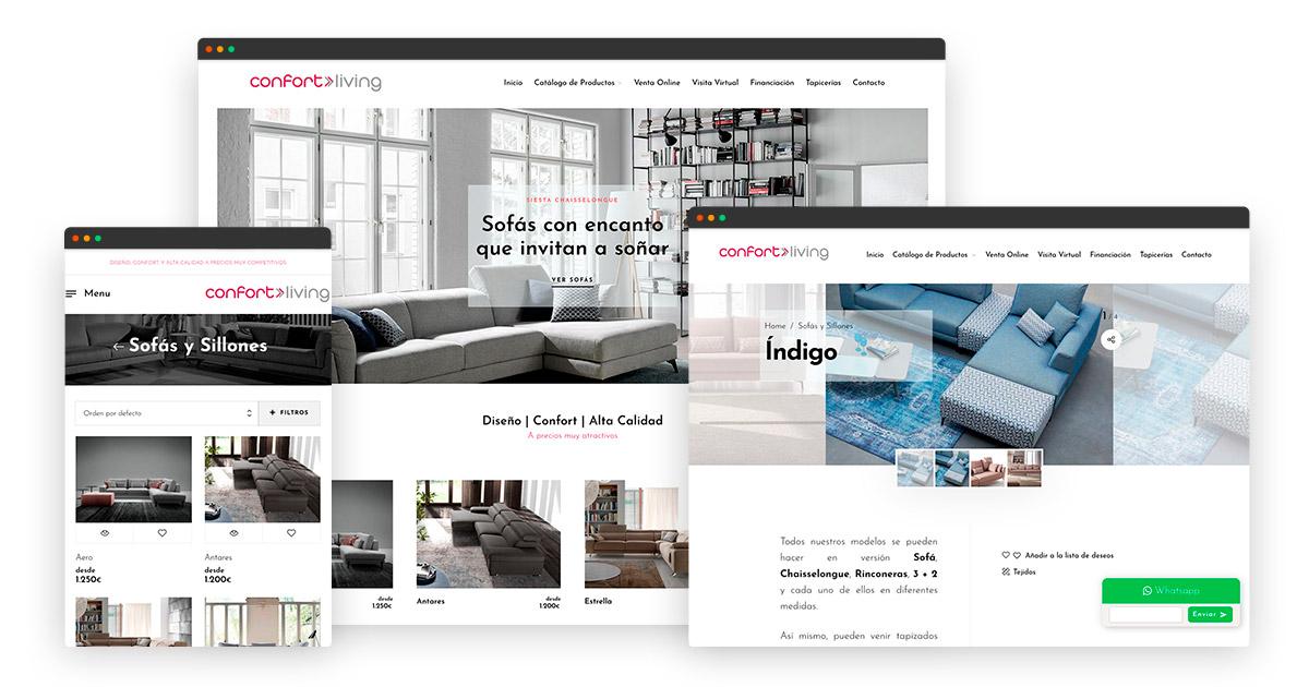 Diseño tienda online Confort Living