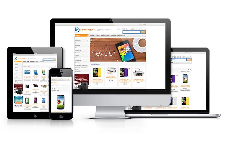 Web de OfficeShopp -  Las Palmas