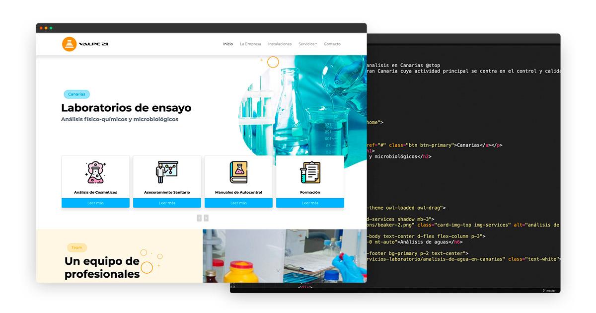 Programación web con laravel en Las Palmas