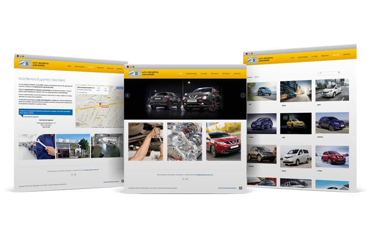 Diseño web Gran Canaria Autos Juan Suarez