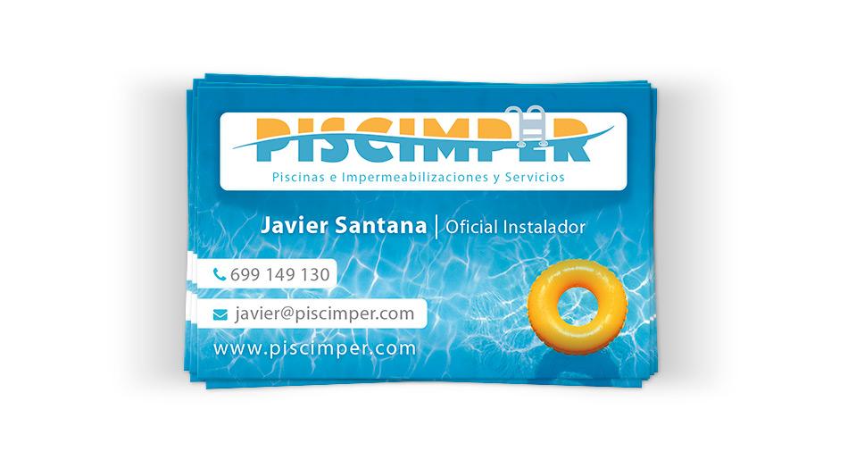 Piscimper - Diseño de tarjetas de visita para Pymes en Las Palmas