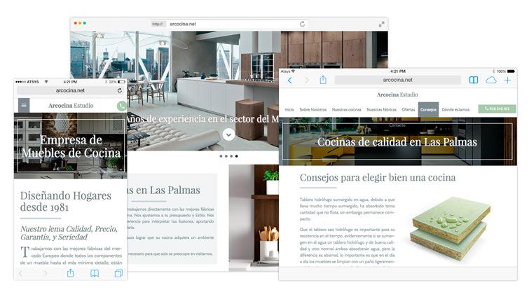 Diseño página web a medida en las palmas