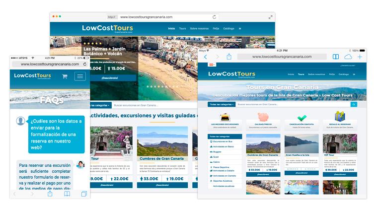 LowCostTours Gran Canaria Desarrolo Aplicación Web